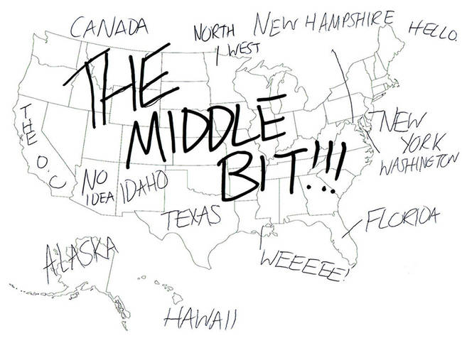 Europeans Were Given A USA Map And Asked To Fill In Each State - Map of canada to label